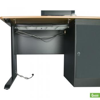 The bottom of a two-person workstation is displayed.