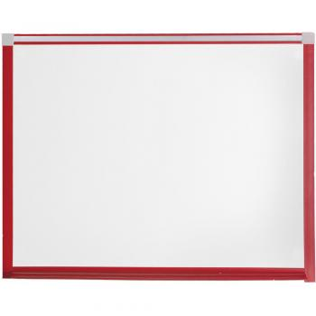This heavy duty magnetic dry erase whiteboard has a PVC frame and comes already installed with hardware for wall mount.