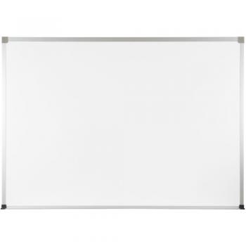 A large whiteboard with aluminum trim.