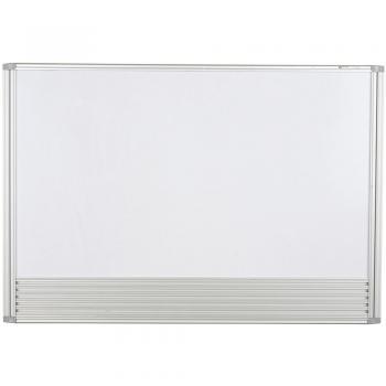 A small whiteboard with aluminum trim is displayed.