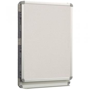 The cubicle dry erase board is made of high pressure laminate.