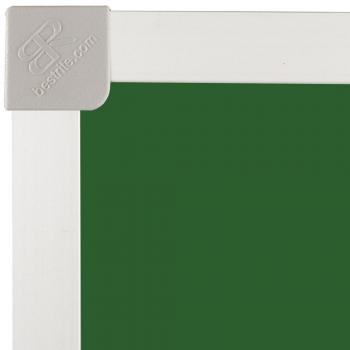 A green chalkboard wall-mounted with Aluminum Frame for a school.