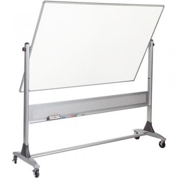 A large double sided dry erase board is displayed.