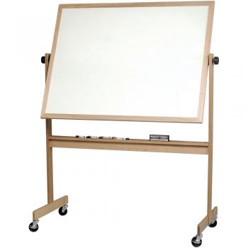 The magnetic dry erase whiteboard comes on an aluminum or wooden frame.