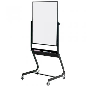 A medium, black trim, rollable whiteboard displayed.