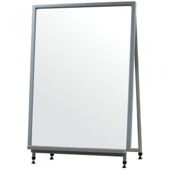 The height adjustable easel that the dry erase whiteboard sits on is perfect for a free standing display or a tabletop presentation.