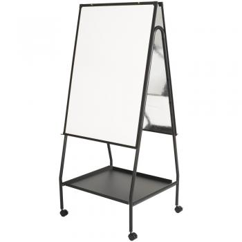 A magnetic presentation whiteboard is shown on an easel.