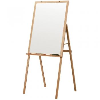 This wood framed magnetic dry erase whiteboard comes in two finishes and has adjustable legs for the perfect height.