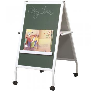 A Children's Easel and chalkboard and markerboard combo is great for the classroom.