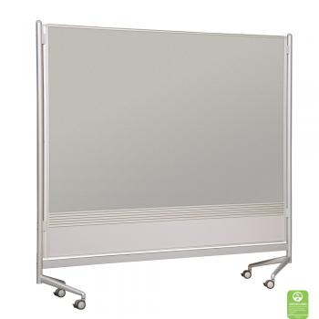 A projection board dry erase room divider is displayed with a projection screen surface.
