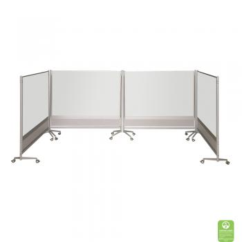 A Projection Whiteboard Room Divider displayed in s square.