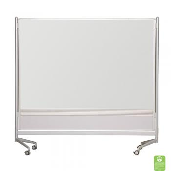 Magnetic whiteboard room dividers are displayed