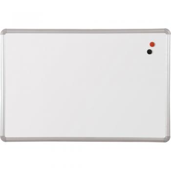 This porcelain covered steel magnetic dry erase board comes with a 50 year guarantee.