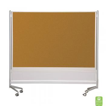 A Projection Whiteboard And Tackboard Room Divider is displayed with a natural cork tackboard surface.