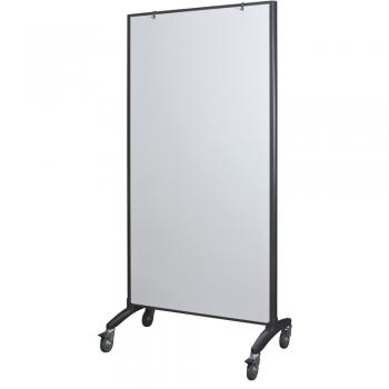 A whiteboard room divider is displayed with a white dry erase surface.