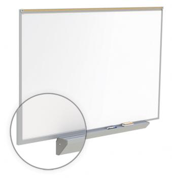 An aluminum framed wall mount magnetic dry erase board.