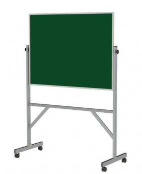 A green rolling chalkboard is displayed with an aluminum easel style frame.