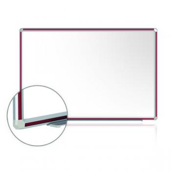 A large aluminum framed magnetic dry erase whiteboard available in many different frame colors.