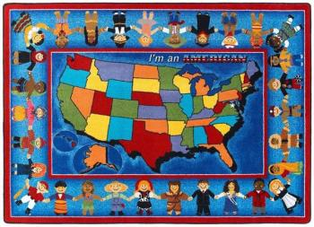 The brightly colored states rugis a fun and comfortable way to teach students about all 50 states while keeping them comfortable,