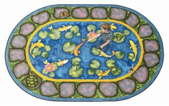 A side view of the garden rug. Children will have hours of play, and possibly even naps, on its soft surface.
