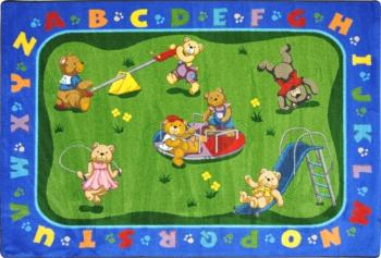 A Teddy Bear Playground classroom area rug.