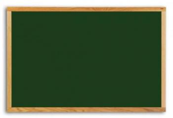 This vinyl chalkboard with solid wood trim comes with a 25 year guarantee and a full length accessory tray.