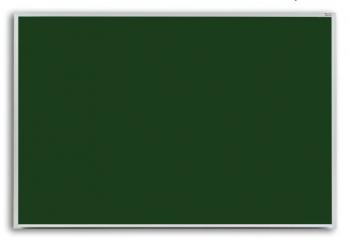 This green hanging chalkboard is framed in high quality anodized aluminum with a full length accessory tray.