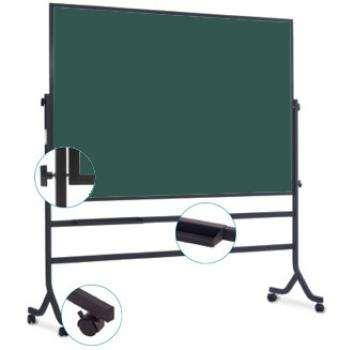 A rolling easel chalkboard for a classroom or school.