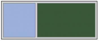 A large combination whiteboard and bulletin board in your choice of a vaiety of colors.