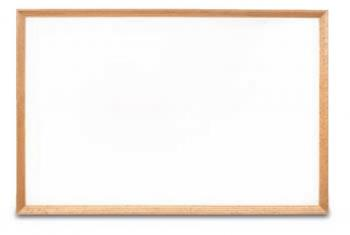 The frame of the melamine dry erase white board is wooden and comes in a variety of finishes.