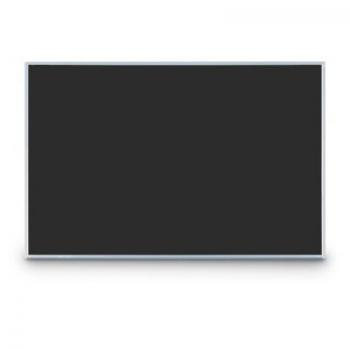 A black small classroom chalkboard in an aluminum frame for a smaller classroom or office.