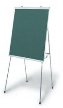 A portable blackboard for the classroom.