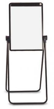 The magnetic dry erase menu board features telescoping legs for adjustable height and non skid feet for durability.