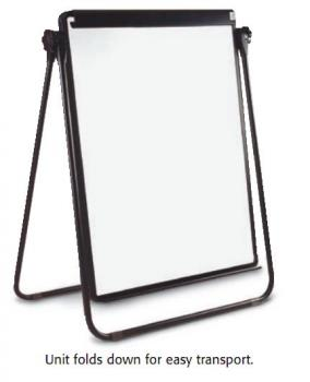 Adjustable to eye level, the dry erase menu board is easily seen by the target audience.