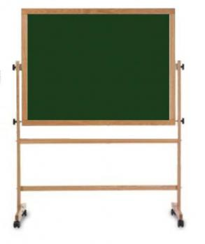 A Green Portable Chalkboard for a school.