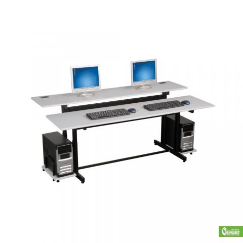two person computer workstation desk learner supply. Black Bedroom Furniture Sets. Home Design Ideas
