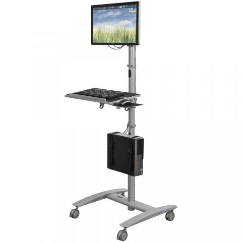 Sit Or Standing Workstation For Computer Accessories