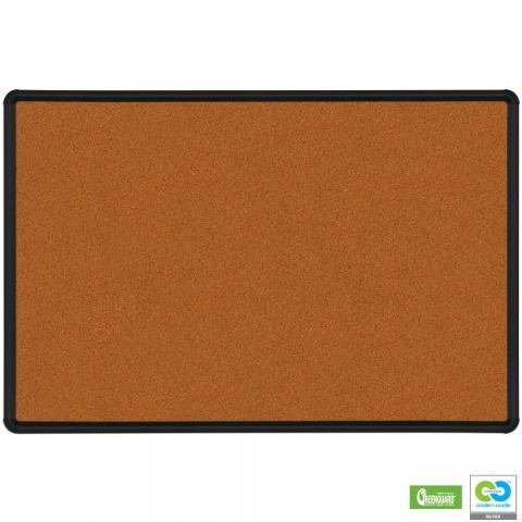 a red small wall mounted cork board is shown
