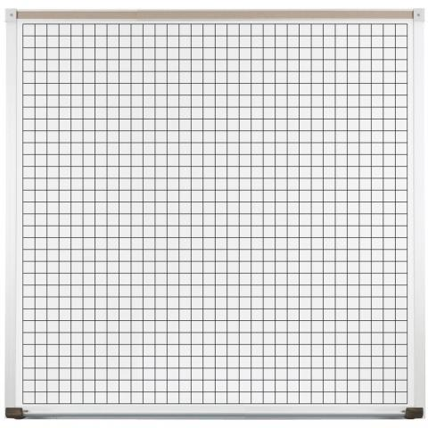 """Coordinate Plane Whiteboard with 1"""" Gridlines - Choose Size 