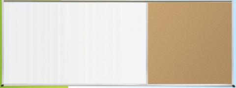 dry erase board with aluminum frame and right side cork board - Large Dry Erase Board