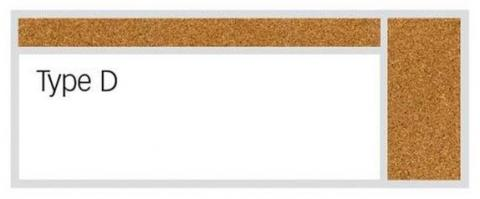 large dry erase whiteboard cork board combo with upper and right sided cork board attachments - Large Dry Erase Board