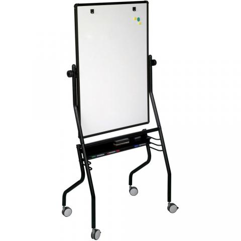 Double Sided Magnetic Freestanding Whiteboard With Wheels