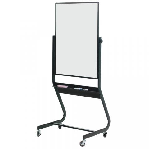 magnetic reversible dry erase board on wheels choose size