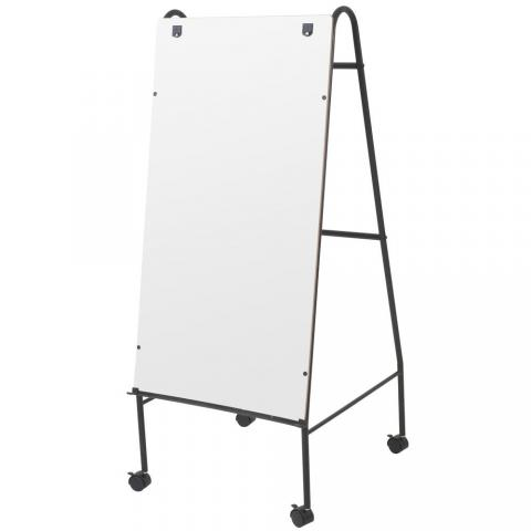 a large rolling melamine dry erase whiteboard with a full length accessory tray - Large Dry Erase Board