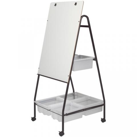 Standing Whiteboard With Storage Bins Learner Supply