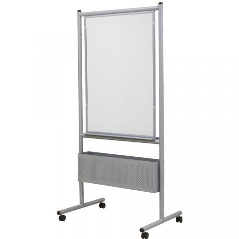 Free Standing Whiteboard Black Or Silver Frame Learner