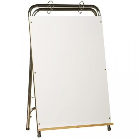 the legs on the easel of this dry erase whiteboard adjust easily to sit on top - Whiteboard Easel