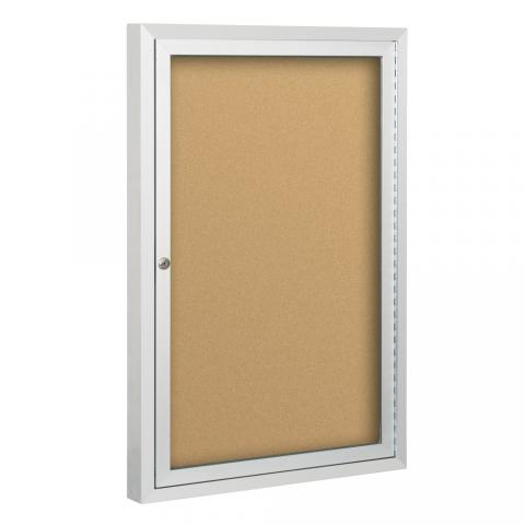 Enclosed Bulletin Board Single Door Choose Size