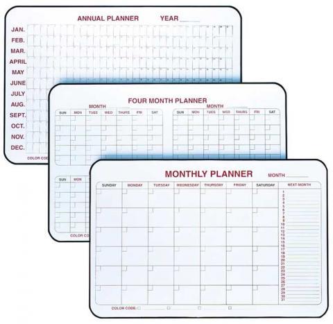 dry erase planner 120 day 4 month calendar learner supply