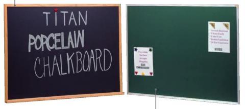Magnetic Large Chalkboard Porcelain Enameled Steel 1 2